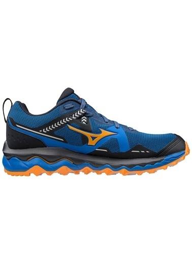 Mizuno Wave Mujin 7 Erkek Koşu Ayakkabısı Mavi/Turuncu Mavi